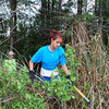 <b>Boy Scout Troop 215 and Friends Clearing Undergrowth</b> April 16, 2011 <i>- Kay Larche</i>