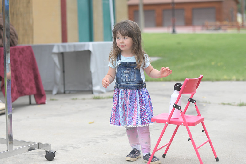 Ryan Patterson | The Sheridan Press<br /> June Betz, age 2, takes in the scene during Clearmont Days Saturday, June 29, 2019.