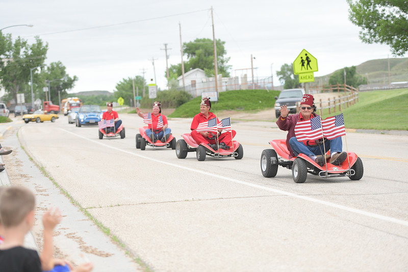 Ryan Patterson | The Sheridan Press<br /> Members of the Powder River Shrine Club drive through the parade during Clearmont Days Saturday, June 29, 2019.