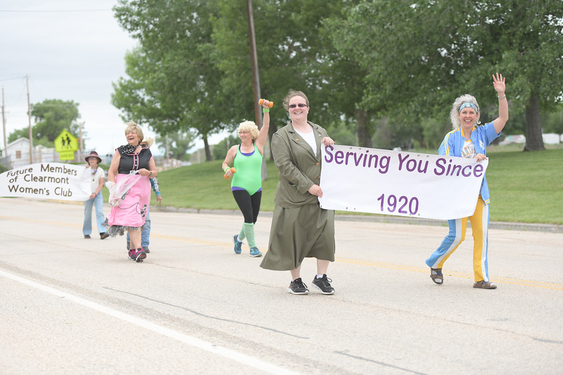 Ryan Patterson | The Sheridan Press<br /> Members of the Clearmont Women's Club march in the parade during Clearmont Days Saturday, June 29, 2019.