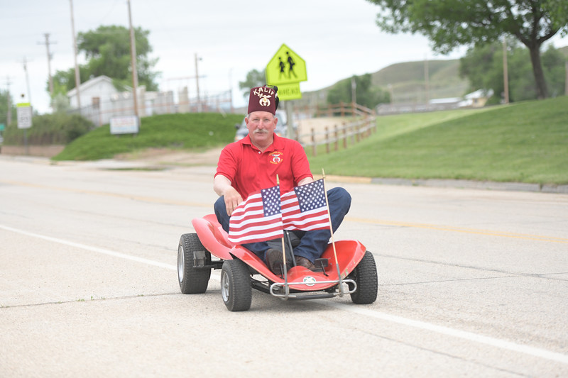 Ryan Patterson | The Sheridan Press<br /> Powder River Shrine Club member Troy Swartz participates in the parade during Clearmont Days Saturday, June 29, 2019.