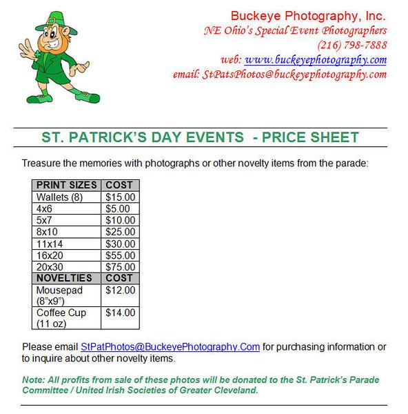 2009 Pricing Sheet