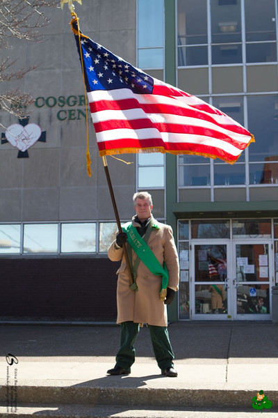 2014 Cleveland Saint Patrick's Day Parade - Singing of the National Anthems and Step-off