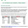 2015 Parade Price Sheet