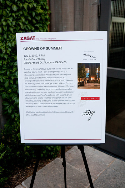 2012.07.07 Zagat Presents Crowns of Summer Ram's Gate Winery