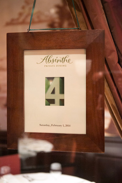 2014.02.01 Absinthe Restaurant 20th Anniversary Dinner