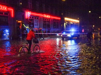 Cloudburst, Copenhagen Vesterbro, August 31 - 2014 at 04.00 to 05.00.  Photo: Martin Bager