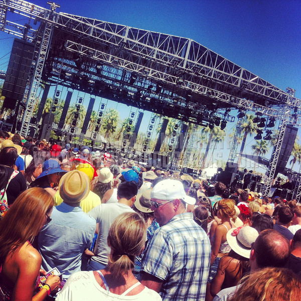 Waiting for the first performance of Coachella 2013