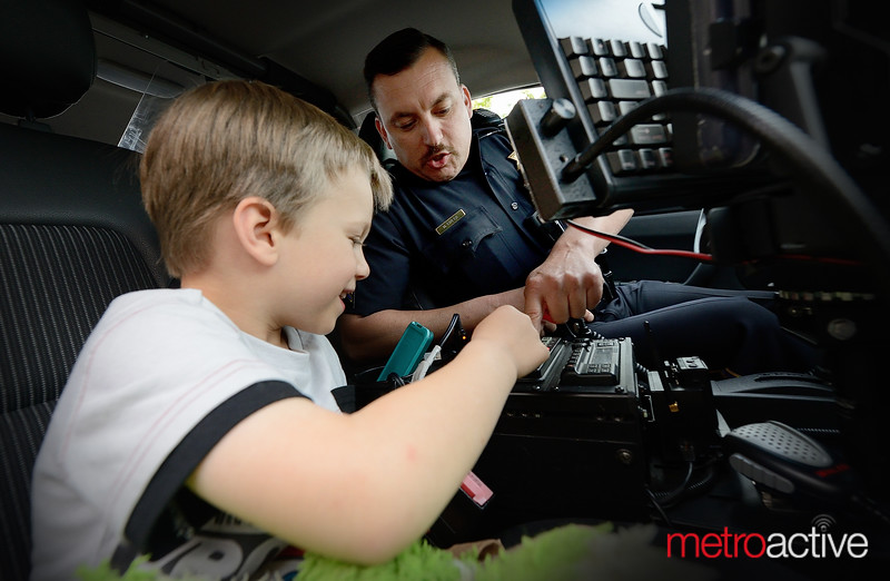 Officers Rivera trains a future cadet
