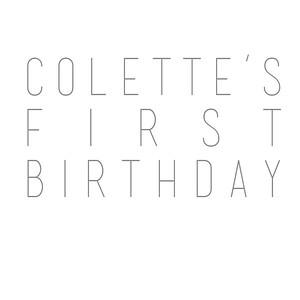 Colette's 1st Birthday