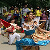 JUly 20, 2021 -- Colombian flag-raising at Lowell City Hall. Dance group Bajucol performs: Luis Ortega of Everett and Samantha Correa of Winthrop, front, and Alexis Taborda of East Boston and Sofia Blandino of Everett, rear. SUN/Julia Malakie