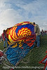 Folks are doing the cold inflation on this balloon at the Colorado Balloon Classic, 2009.