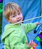 A little girl at the balloon festival