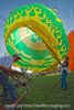 Cold inflating a ballon at the Colorado Balloon Classic in Colorado Springs.