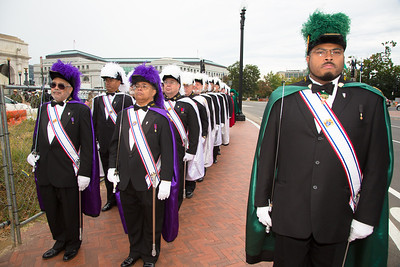 Julius Jackson, Assistant Marshal, Archdiocese of Washington District and color guard