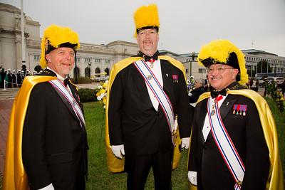 Faithful District Masters of the Knights of Columbus - Cy Alba (Virginia), John Winfrey (Washington D.C.) and Steve Thomas (Maryland)