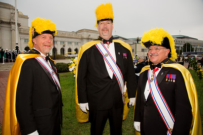 Faithful District Masters of the Knights of Columbus - Cy Alba (Virginia), John Winfrey (Washington D.C.) and Steve Thomas (Maryland)