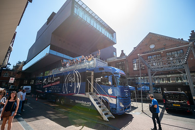2018_06_29, Amsterdam, Bus, Come Together Amsterdam, Exterior, Melkweg, NL, Peace Deck