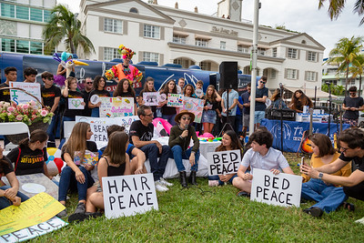 2018_11_03, Beach, Beach Bed In, Bed In, Bed In on the Beach, Brian Rothschild, Come Together, Come Together Miami, Emily Estefan, FL, Florida, Miami, Miami Beach, The Betsy, The Betsy Hotel, Bus, Exterior, Andy Cabrera, Diana Rodriguez