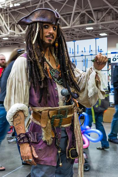 Minneapolis Comic Con 2014, Comic Con Cosplay, Captain Jack Sparrow costume, Captain Jack Sparrow Cosplay