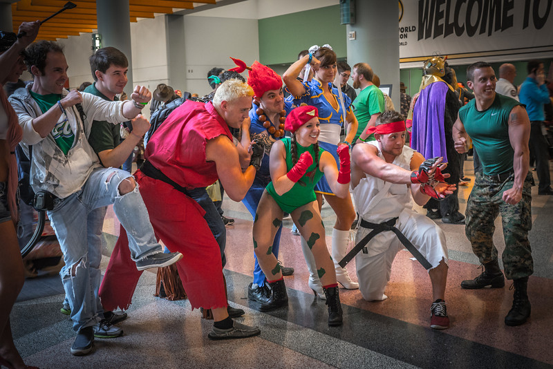 Street Fighter costumes, Street Fighter Cosplay, Wizard World Minneapolis Comic Con 2014
