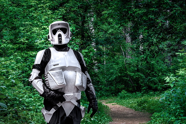 Star Wars Cosplay, Comic Con 2015, Biker Scout, Endor, Star Wars Costume
