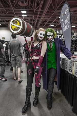Wizard World Comic Con Minneapolis 2015, Harley Quinn costume, The Joker costume, Suicide Sqaud Costumes