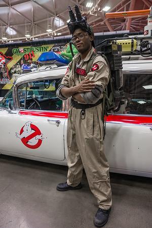 Wizard World Comic Con Minneapolis 2015, Ghostbusters car, Ghostbusters Cosplay, Ghostbusters Costume
