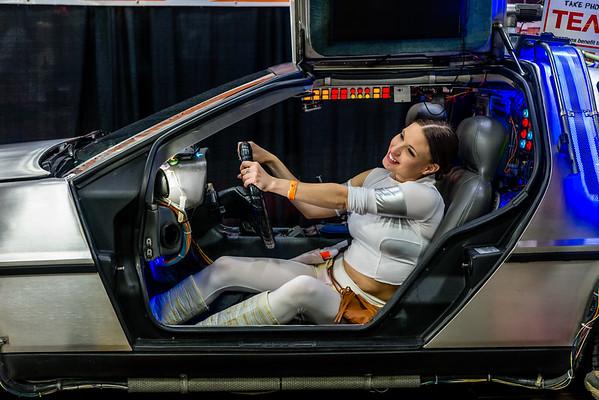 Wizard World Comic Con Minneapolis 2015, Star Wars Cosplay, Padme Costume, Delorean