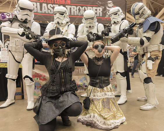 Star Wars Comic Con 2015, Wizard World Comic Con Minneapolis 2015, Steampunk Cosplay, Star Wars Cosplay, Stormtroopers, Clone Trooper