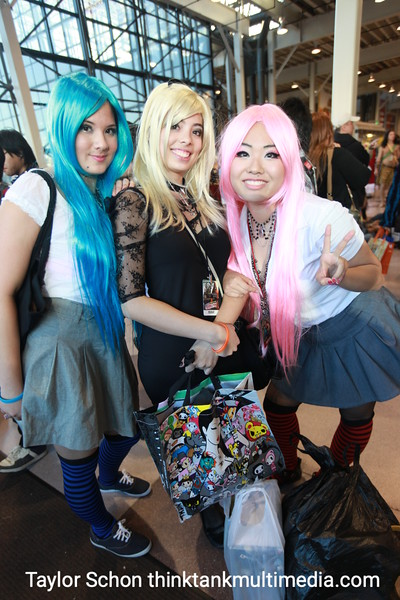 """Jessica, Evelyn, Jeanie.<br /> <br /> What are you?<br /> <br /> """"We're just Cosplaying for fun!"""" <br /> <br /> Nice. You're japanese characters?<br /> <br /> """"Her name is Misa. Erm…""""<br /> <br /> Your friends just dressed you up, you have no idea who Misa is do you? <br /> <br /> [Laughs]<br /> <br /> What should a guy dress up as to turn you on? <br /> <br /> """"Um, I don't really care. Not dressed!"""" [giggles like japanese schoolgirl]<br /> <br /> Result: Aha! The truth comes out! Girls don't want us dressing up as cartoon characters! We learn a great deal at ComicCon 2010!"""