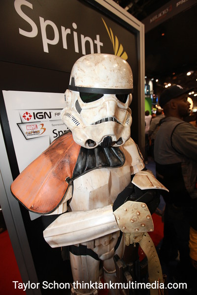 "STAR WARS STORMTROOPER / NEAL JONES<br /> <br /> What is your serial number?<br /> <br /> [To be heard as a Standard Mexican Accent for a stormtrooper] ""TD-6982.""<br /> <br /> Wow, you are a geek. Hows the costume working with the ladies?<br /> <br /> ""Oh si si, oh yah its amazing, they love it. Old ladies - from the first 3 movies generation - they love it. <br /> <br /> Any requests to see your blaster?<br /> <br /> ""Blaster?""<br /> <br /> ""Oops, sorry, Your, ahem,  'Stormtrooper Rifle'""<br /> <br /> ""Ohh yeah, they love it, they love it. Mine is the biggest in the town of Mos Eisley."" <br /> <br /> Oh Dear. Taken any twilek prisoners? <br /> <br /> ""Not yet, I don't have that luck man.""<br /> <br /> Result: While women may love a woman in uniform, Mexican Stormtroopers cannot procreate."