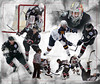 Basingstoke Bison ice hockey team montage against Guildford Flames