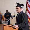 James Bahensky of Anselmo delivers the closing moment of reflection at Chadron State College's undergraduate commencement ceremony Saturday. (Photo by Daniel Binkard/Chadron State College)