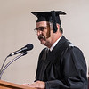 Larry Teahon, representative for the Nebraska State College System Board of Trustees, speaks at Chadron State College's undergraduate commencement ceremony Saturday. (Photo by Daniel Binkard/Chadron State College)