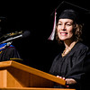 Leslie Caswell of Chadron delivers the opening moment of reflection at Chadron State College's graduate commencement ceremony Saturday. (Photo by Daniel Binkard/Chadron State College)