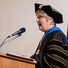 Chadron State College President Dr. Janie Park speaks at the undergraduate commencement ceremony. CSC conferred 224 bachelor's degrees to candidates Saturday. (Photo by Daniel Binkard/Chadron State College)