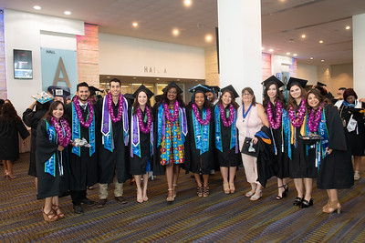 TAMU-CC graduates from the College of Nursing and Health Sciences gather for a photo.