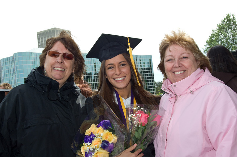 Students enjoy their final day as an undergraduate at UAlbany during their commencement in 2009.