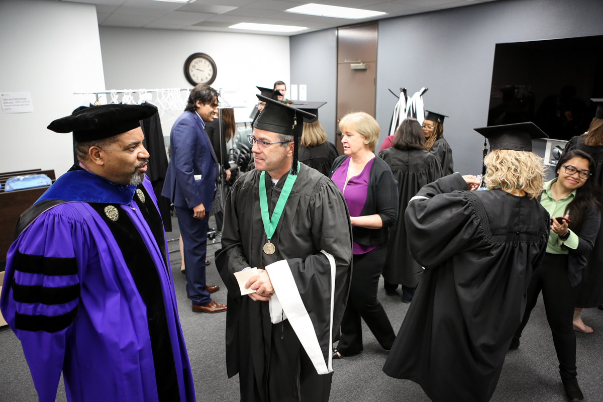 Claremont Lincoln University Commencement on March 26, 2017.  Nancy Newman Photography NancyNB@earthlink.net