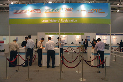 07060002 - Entrance and registration to CommunicAsia 2007.