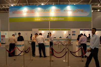 DSC_4781 - - Entrance and registration to CommunicAsia 2007.