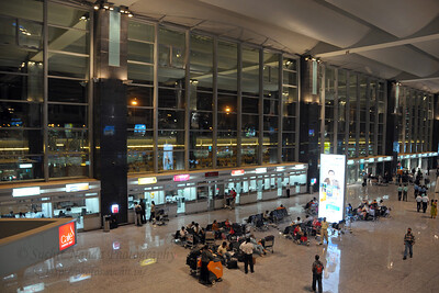 Bengaluru International Airport (New Bangalore Airport) http://www.bengaluruairport.com Seen here is the check in area.