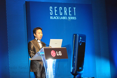 Launch of LG's SECRET Black label series of mobile phone at CommunicAsia 2008 at Singapore Expo, Singapore