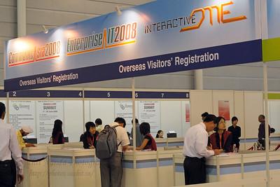 Registration at CommunicAsia 2008 at Singapore Expo, Singapore