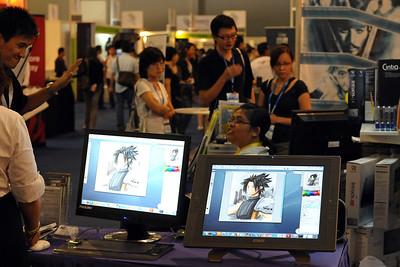 CommunicAsia 2008 and BroadcastAsia 2008 held at Singapore Expo, Singapore.