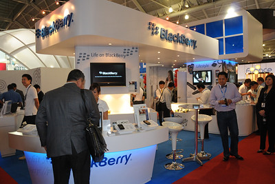BlackBerry at CommunicAsia 2008 and BroadcastAsia 2008 held at Singapore Expo, Singapore.