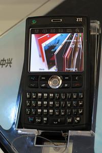 ZTE Phone at CommunicAsia 2008 and BroadcastAsia 2008 held at Singapore Expo, Singapore.