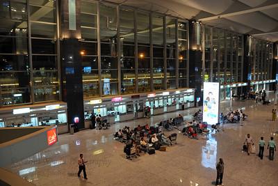 Took the flight to Singapore via Bengaluru (Bangalore). Bengaluru International Airport (New Bangalore Airport) http://www.bengaluruairport.com