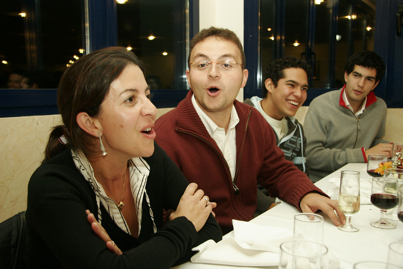 Participants at the Communications Congress enjoy some fun at dinner.